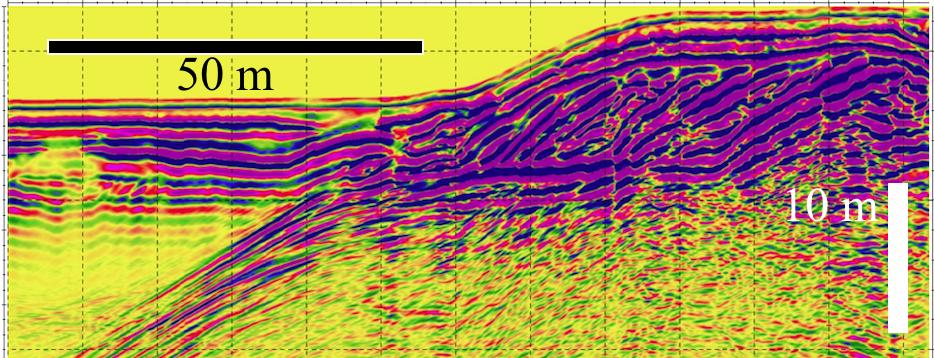 große Eindringtiefe des Bodenradar bei niedrigen Frequenzen